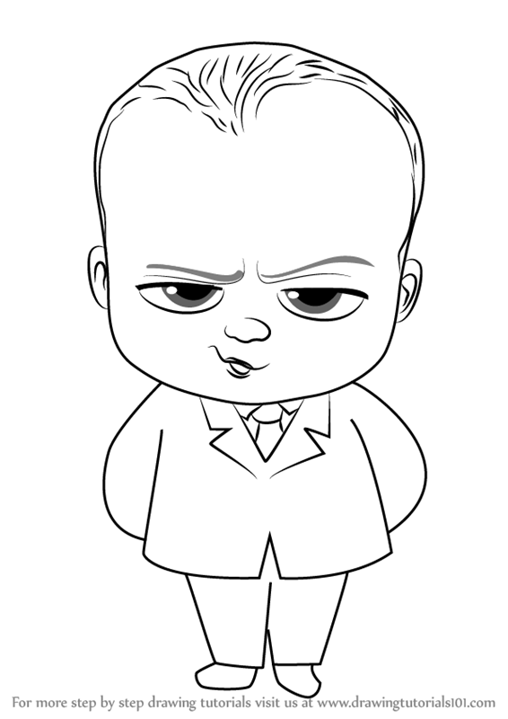 Learn How To Draw Baby Boss From The Boss Baby The Boss