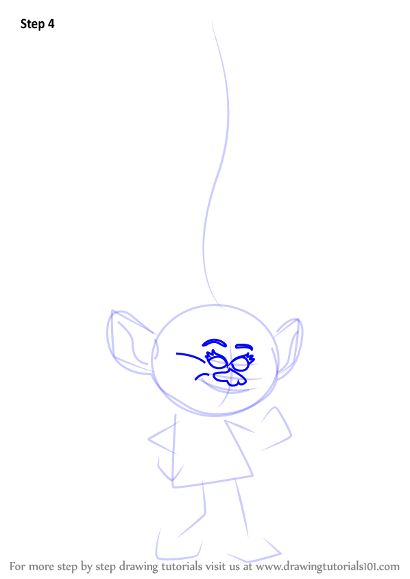 Learn How To Draw Moxie From Trolls Trolls Step By Step