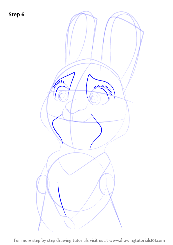 Step By Step How To Draw Bonnie Hopps From Zootopia