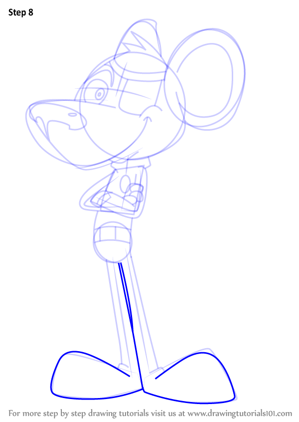 Learn How To Draw Danger Mouse Danger Mouse Step By Step