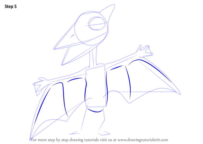 Learn How To Draw Don Pteranodon From Dinosaur Train