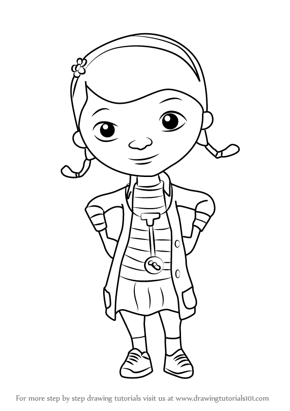 Learn How To Draw Doc From Doc McStuffins Doc McStuffins
