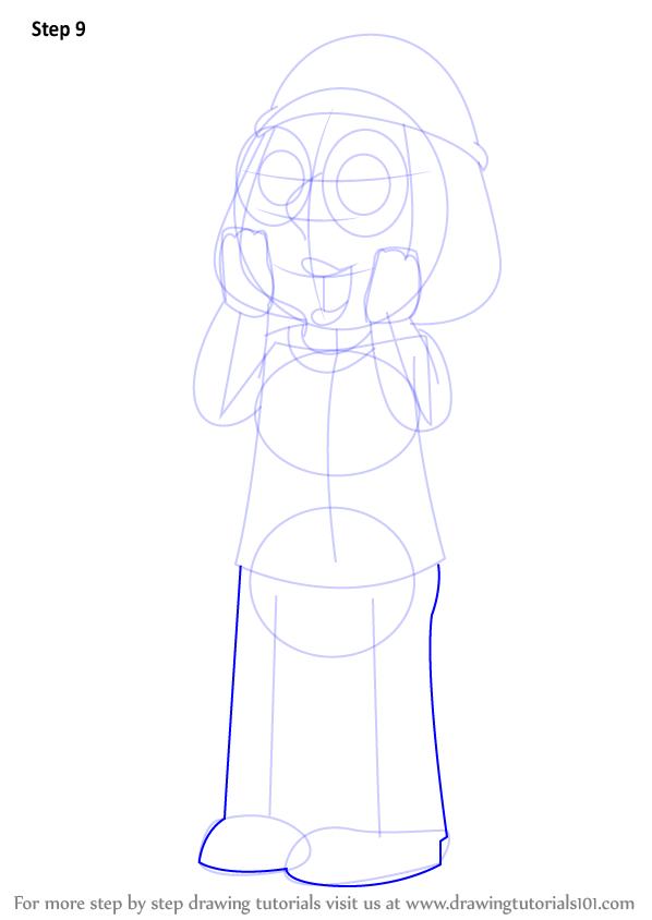 Step By Step How To Draw Meg Griffin From Family Guy