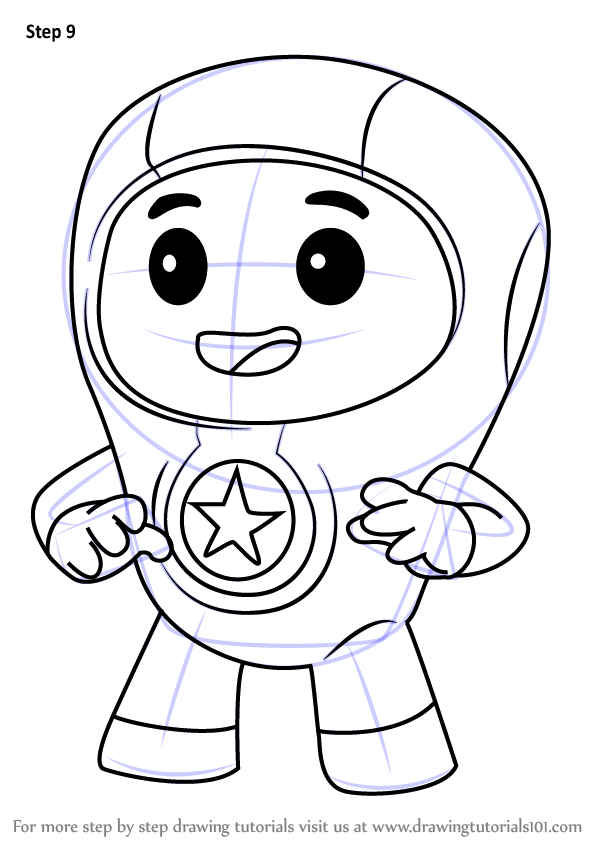 Learn How To Draw Foz From Go Jetters Go Jetters Step By