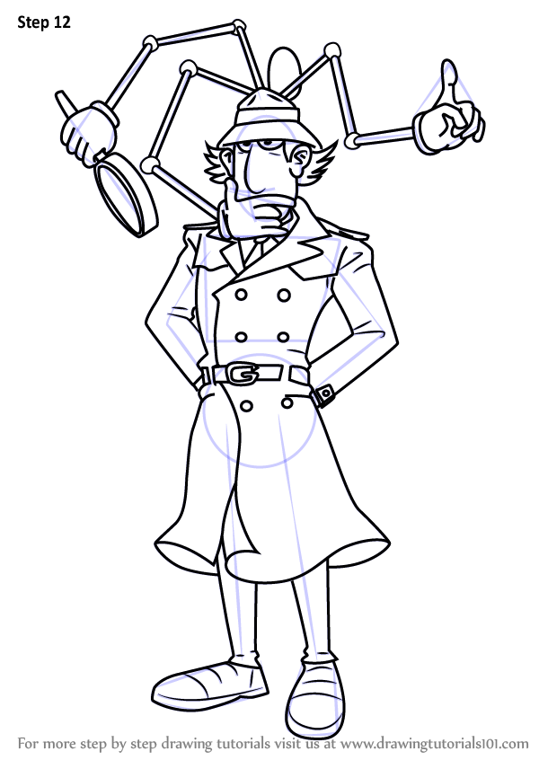 Learn How To Draw Inspector Gadget From Inspector Gadget