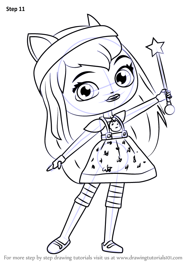 Learn How To Draw Hazel From Little Charmers Libertys