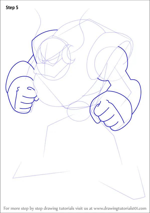Learn How To Draw Uranus From Mega Man Mega Man Step By
