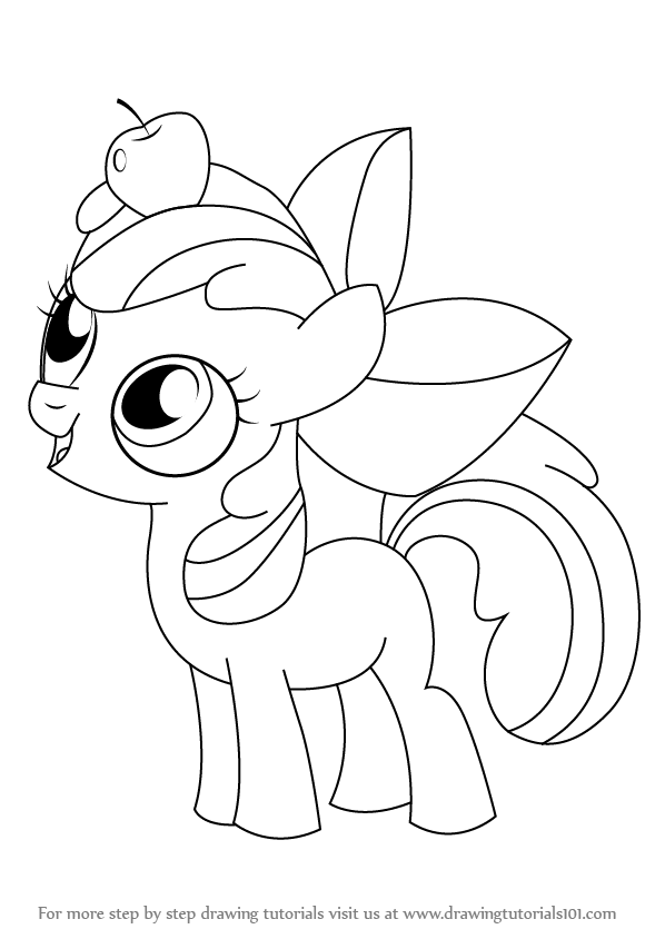 Learn How To Draw Apple Bloom From My Little Pony