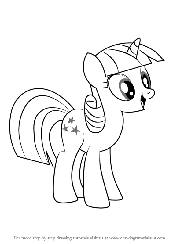 Learn How To Draw Twilight Velvet From My Little Pony Friendship Is Magic My Little Pony Friendship Is Magic Step By Step Drawing Tutorials