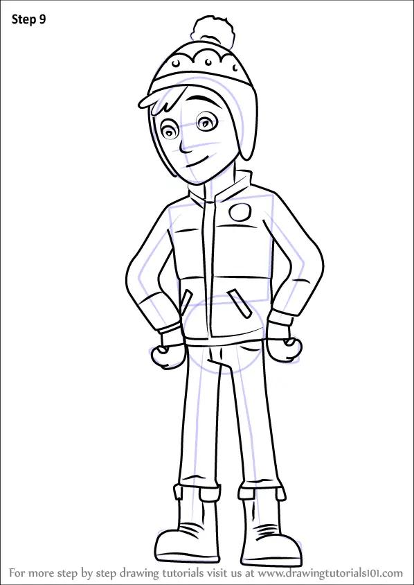 Learn How To Draw Jake From PAW Patrol PAW Patrol Step