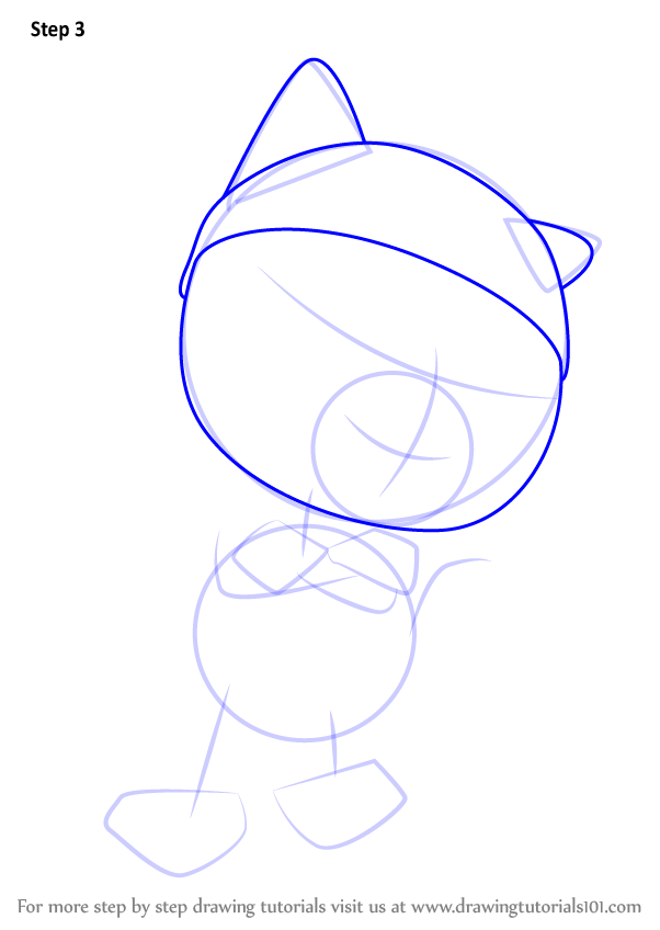 Learn How To Draw Nyao From Pororo The Little Penguin