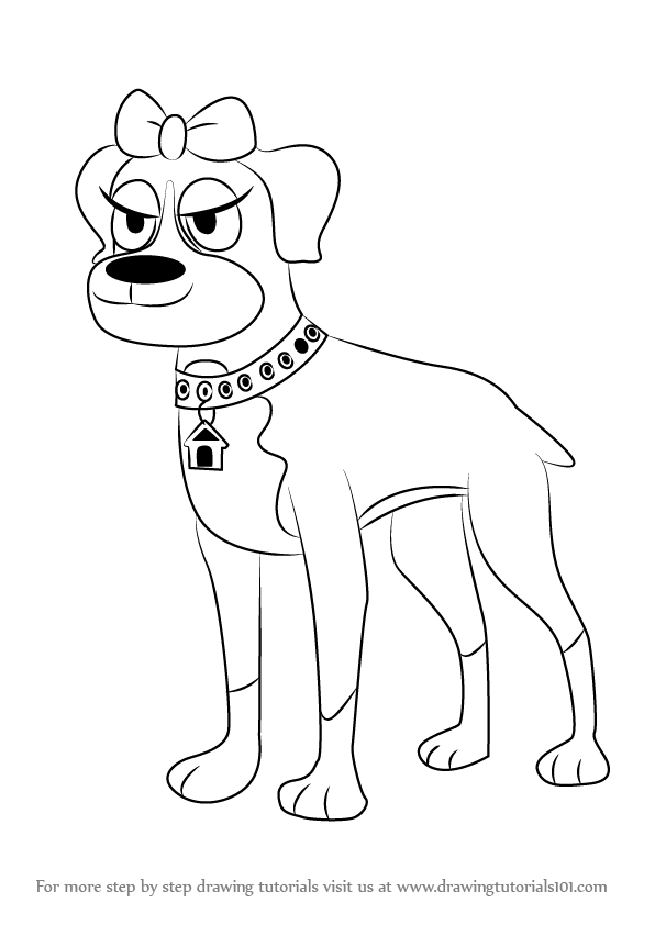 Learn How To Draw Cookie From Pound Puppies Pound Puppies