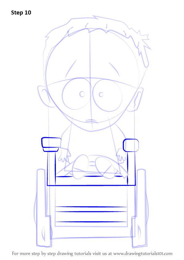 Step By Step How To Draw Timmy Burch From South Park