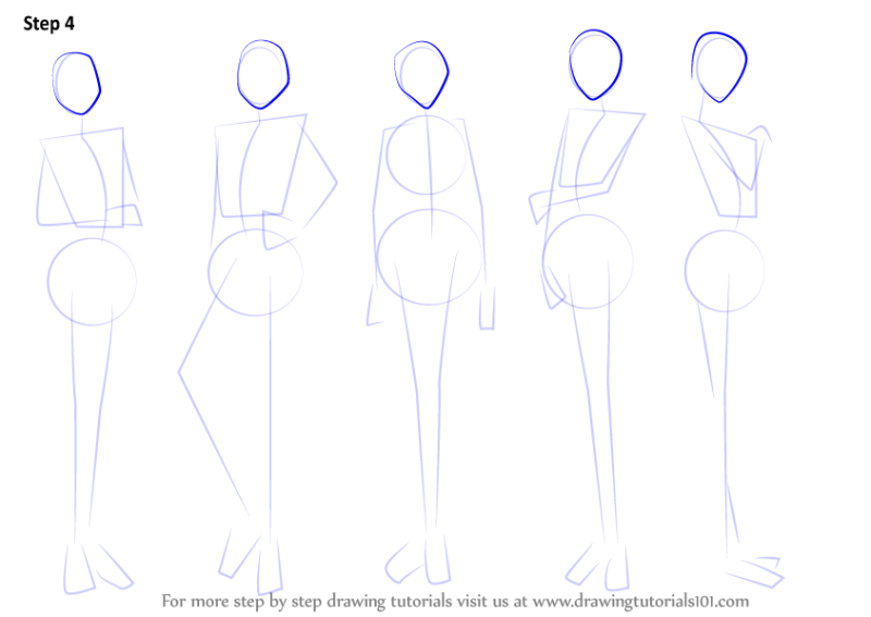 how to draw anime girl step by step for beginners