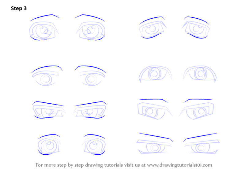 Learn How To Draw Anime Eyes Male Step By Drawing