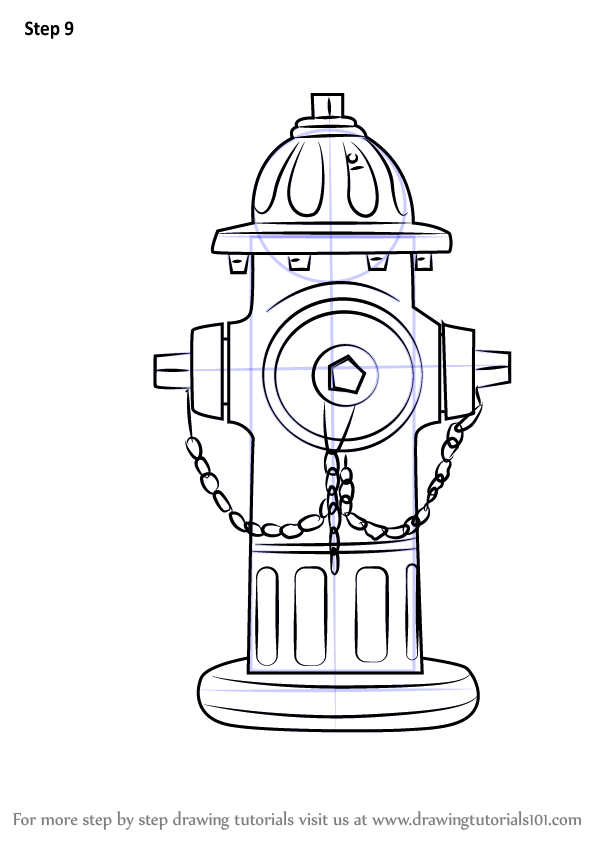 Learn How To Draw Fire Hydrant Everyday Objects Step By