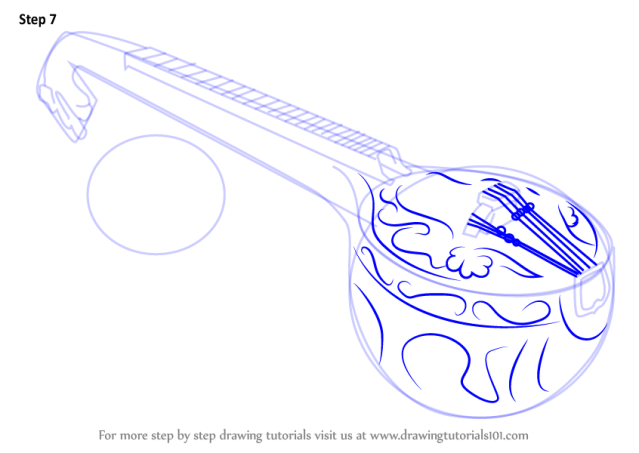 Learn How to Draw a Veena (Musical Instruments) Step by ...
