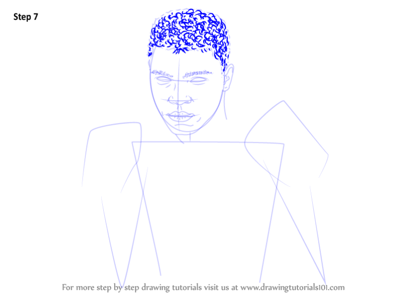 learn how to draw muhammad ali (boxers) stepstep
