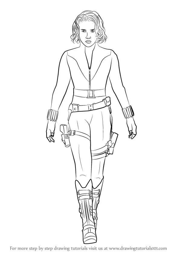 Learn How To Draw Natasha Romanoff Aka Black Widow