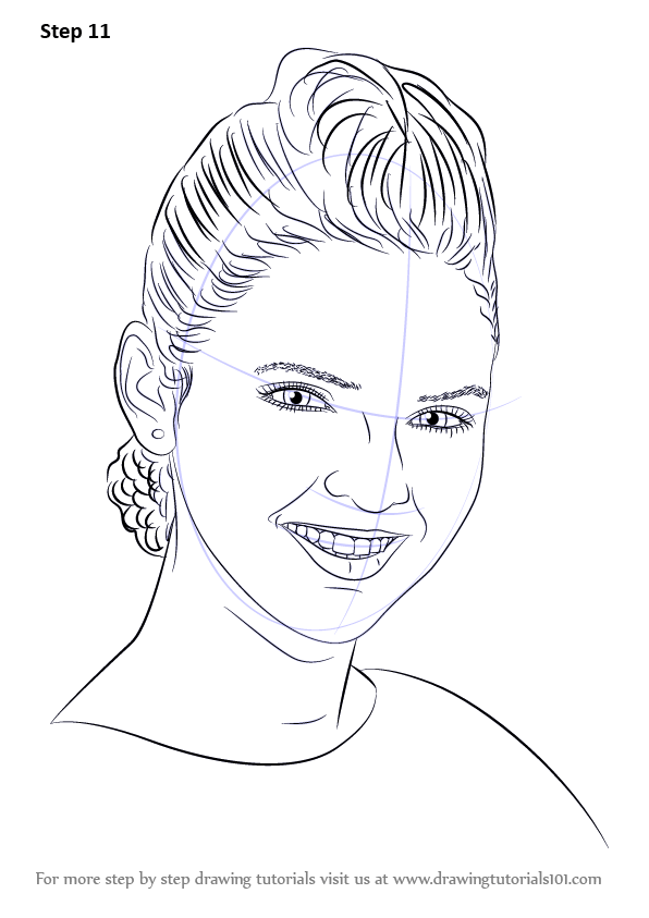 Learn How To Draw Kendall Jenner Female Models Step By