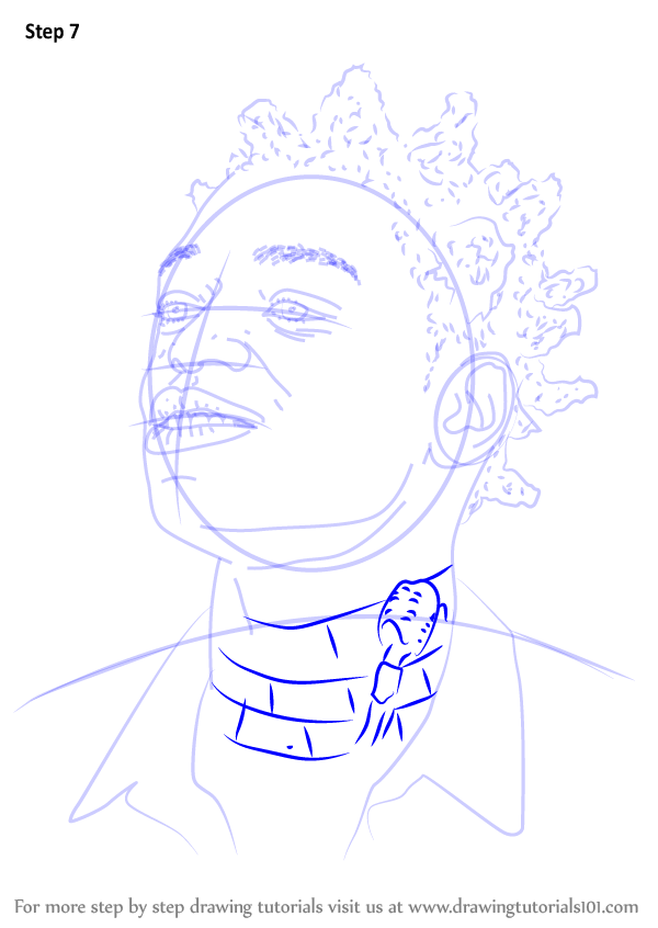 Learn How To Draw Kodak Black Rappers Step By Step