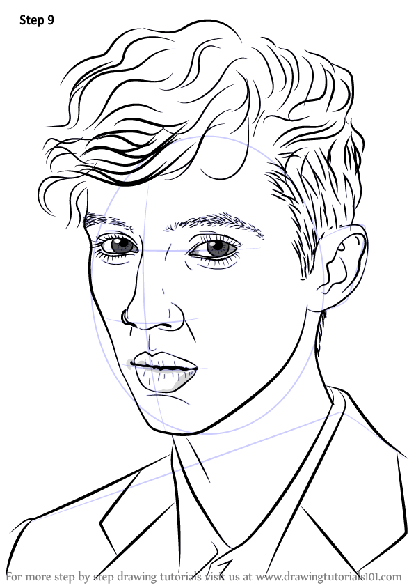 Learn How To Draw Troye Sivan Singers Step By Step