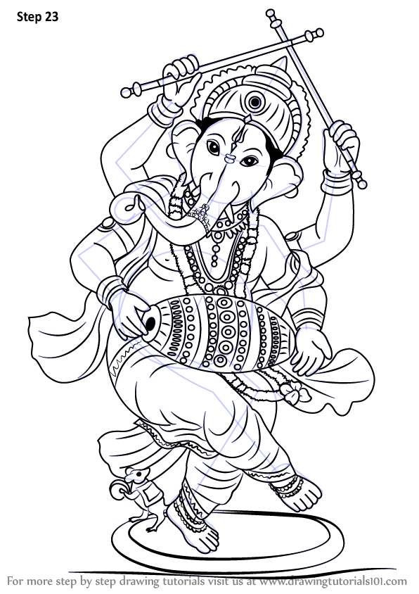 Learn How To Draw Lord Ganesha Hinduism Step By Step
