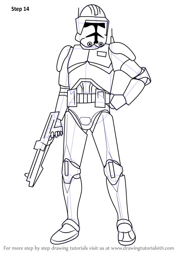 learn how to draw cody from star wars (star wars) step