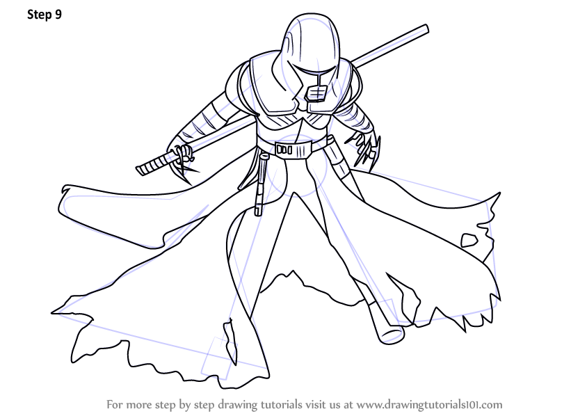 Learn How To Draw Starkiller From Star Wars Star Wars