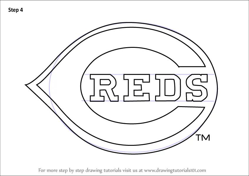Learn How To Draw Cincinnati Reds Logo MLB Step By Step