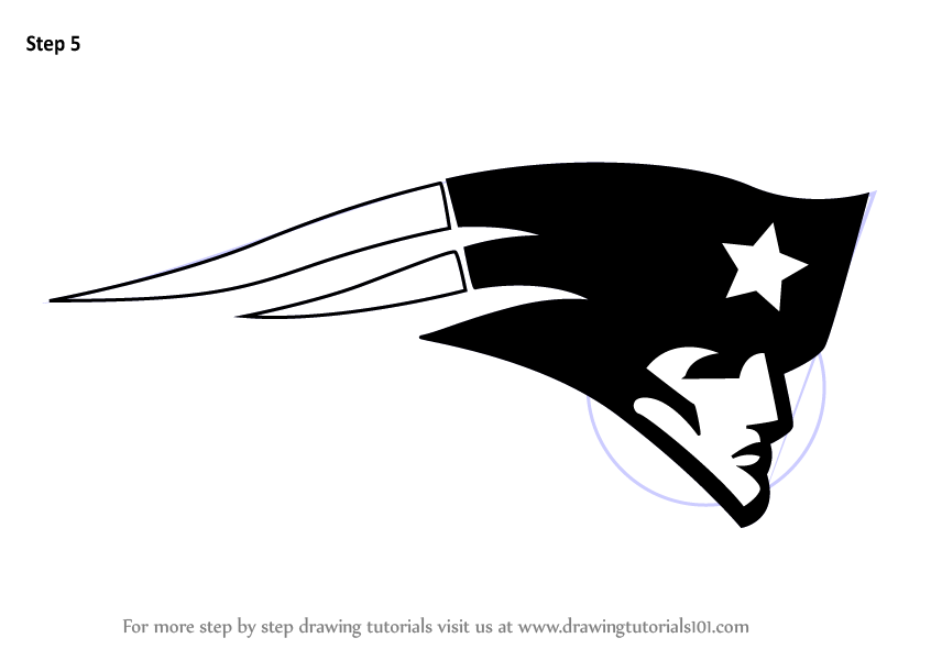 Learn How To Draw New England Patriots Logo Nfl Step By