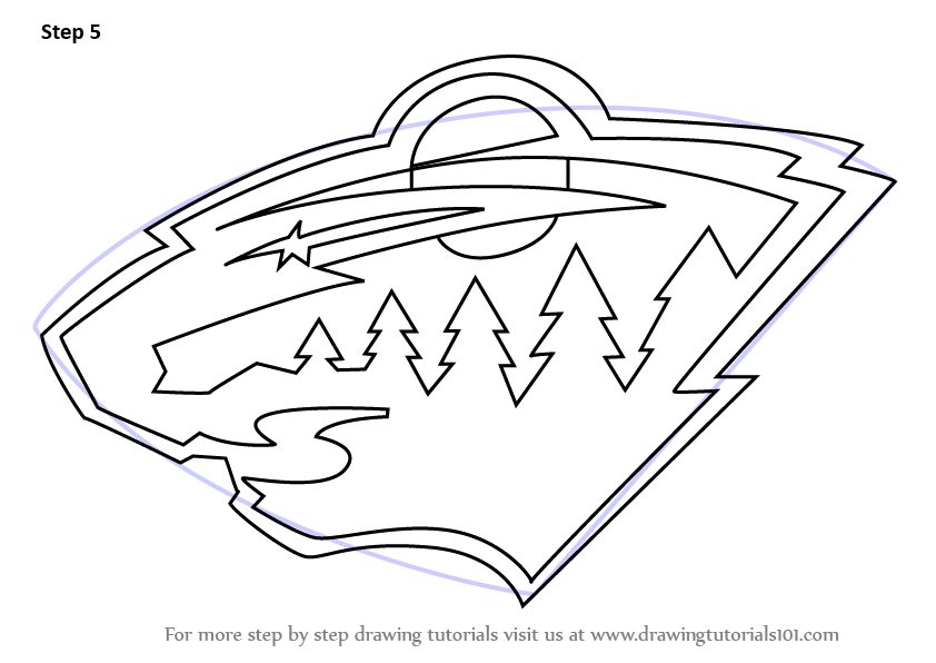 Learn How To Draw Minnesota Wild Logo NHL Step By Step