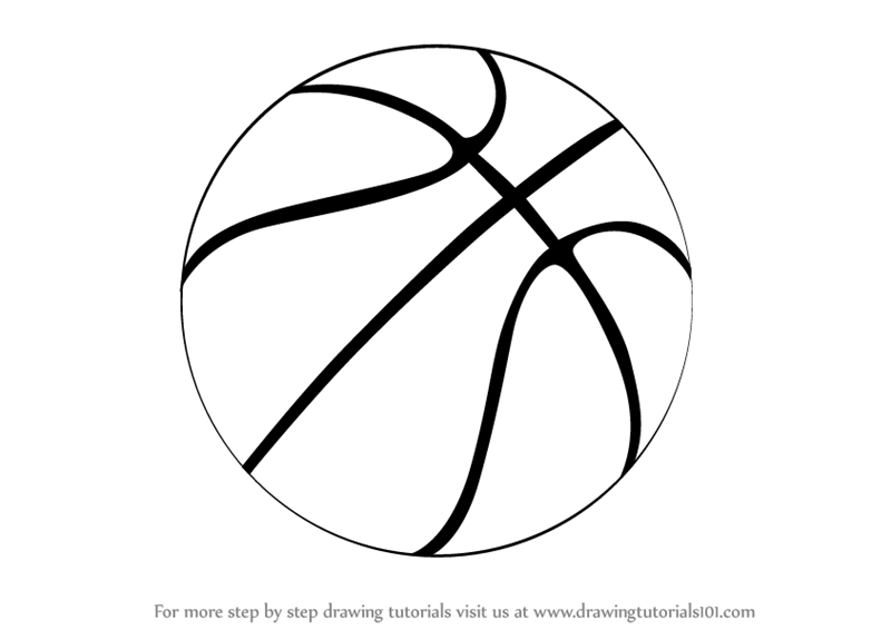 Learn How To Draw A Basketball Other Sports Step By Step Drawing Tutorials