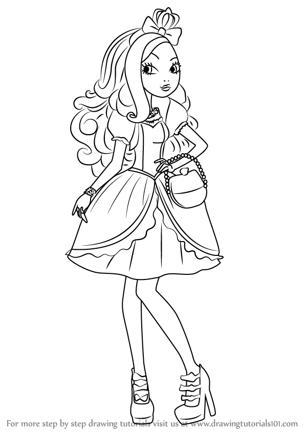 Learn How To Draw Apple White From Ever After High Ever
