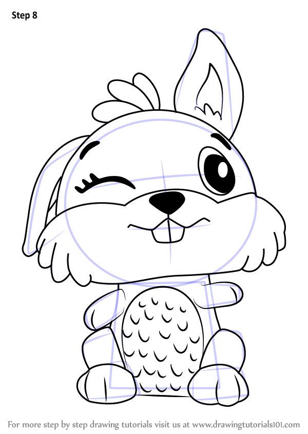 Learn How To Draw Bunwee From Hatchimals Hatchimals Step