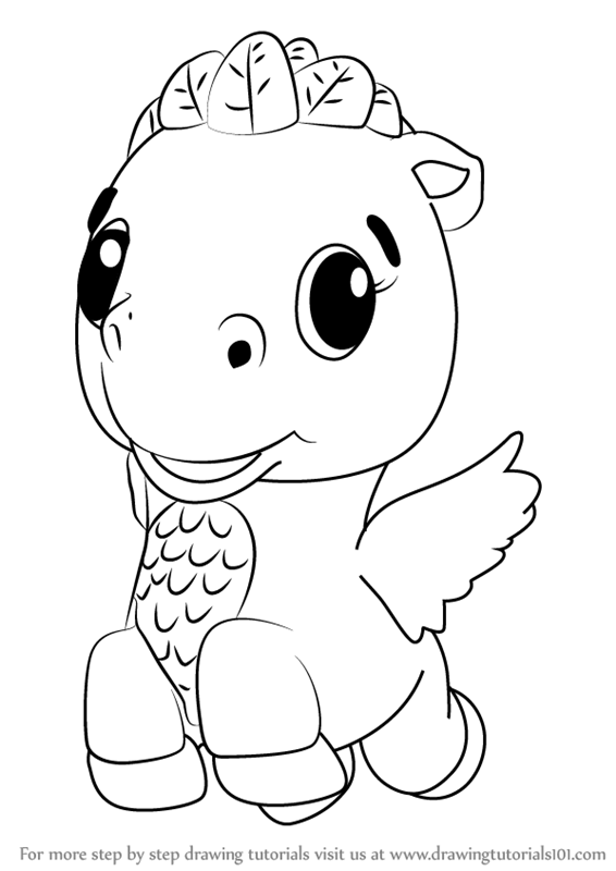 learn how to draw cloud ponette from hatchimals