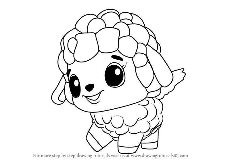 learn how to draw lamblet from hatchimals (hatchimals