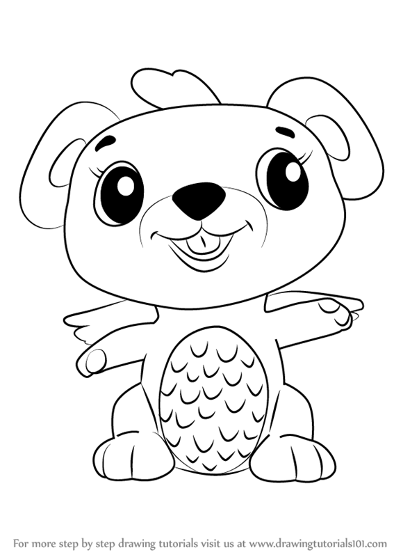 learn how to draw mouseswift from hatchimals (hatchimals