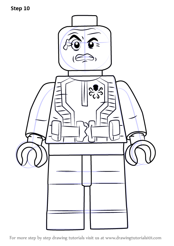 Learn How To Draw Lego Baron Wolfgang Von Strucker Lego