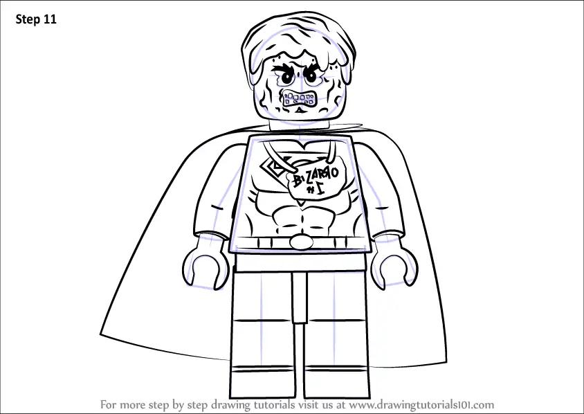 Learn How To Draw Lego Bizarro Lego Step By Step