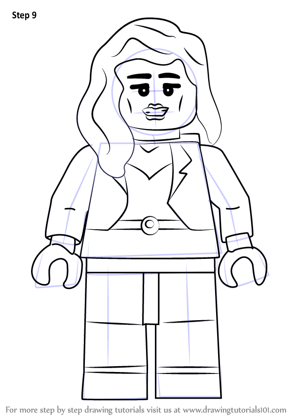 Learn How To Draw Lego Black Canary Lego Step By Step