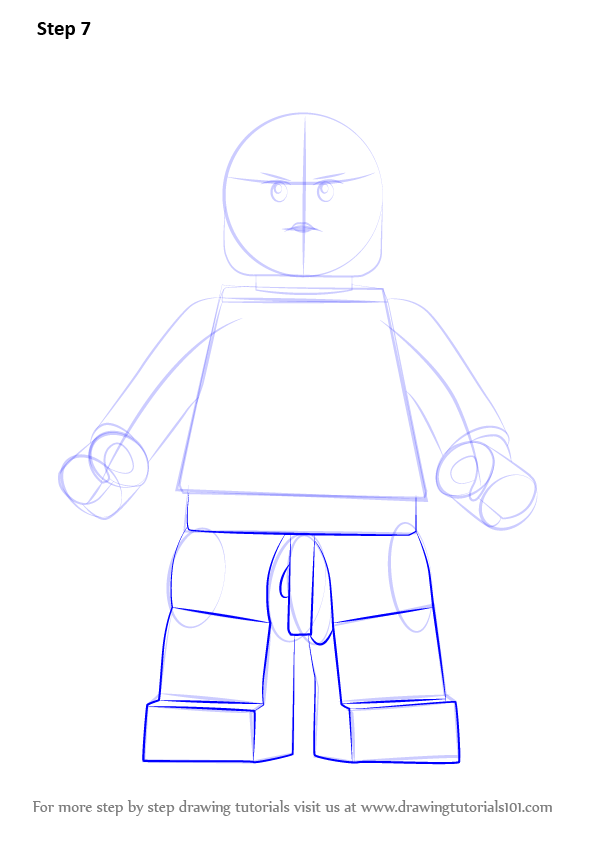 Learn How To Draw Lego Gorilla Girl Lego Step By Step