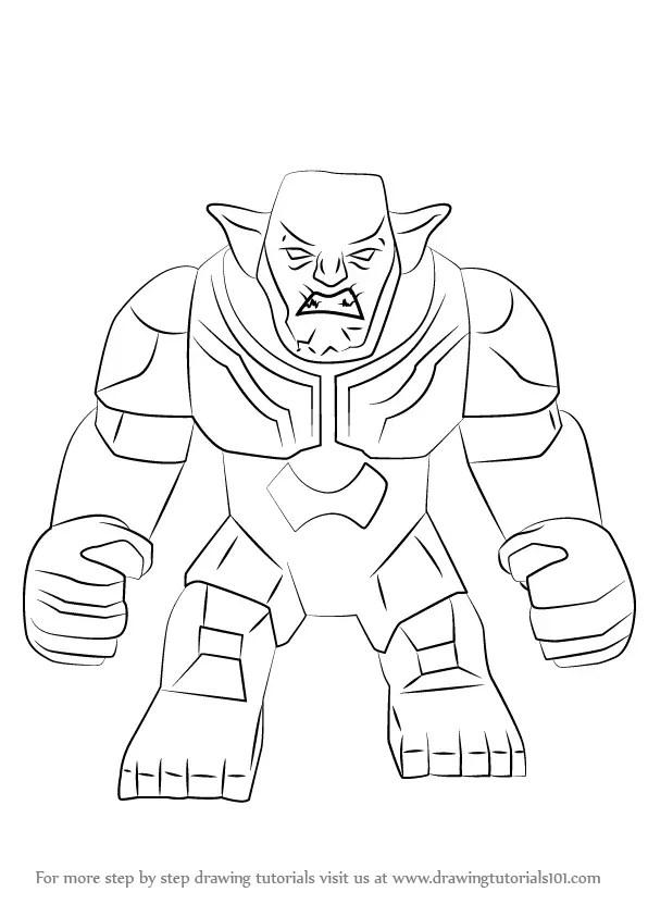 learn how to draw lego green goblin (lego) stepstep