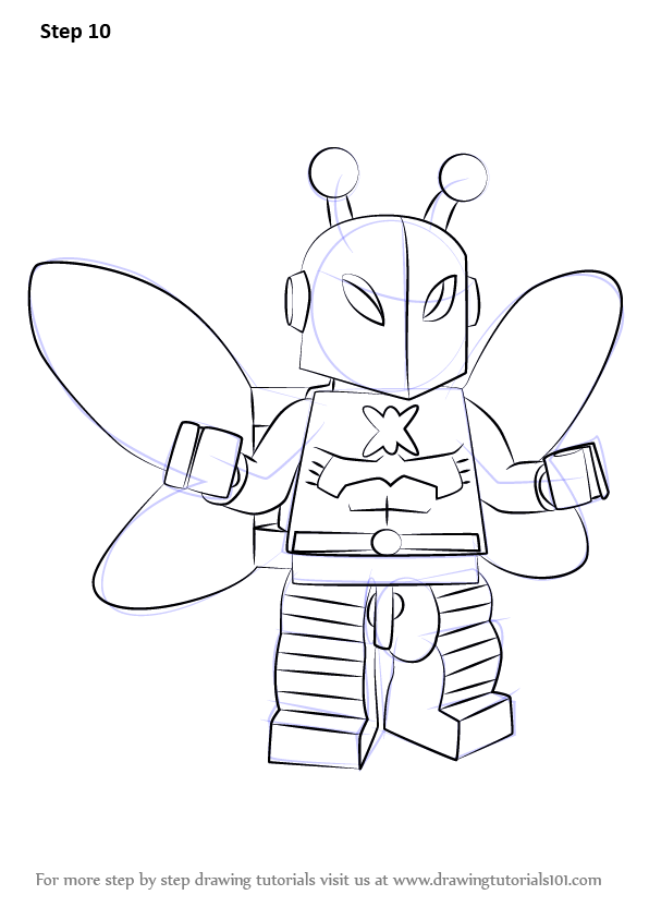 Learn How To Draw Lego Killer Moth Lego Step By Step