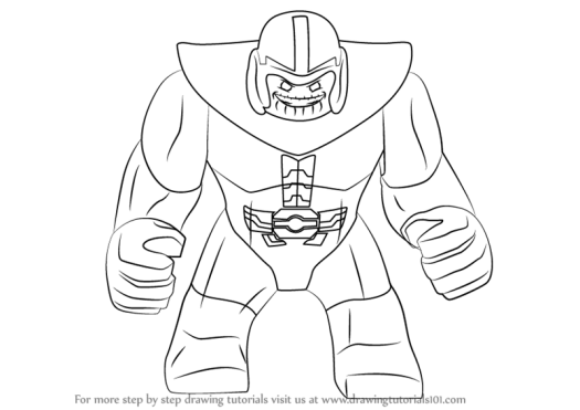 Lego Thanos Coloring Pages