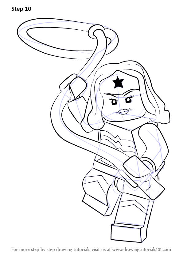 Learn How To Draw Lego Wonder Woman Lego Step By Step