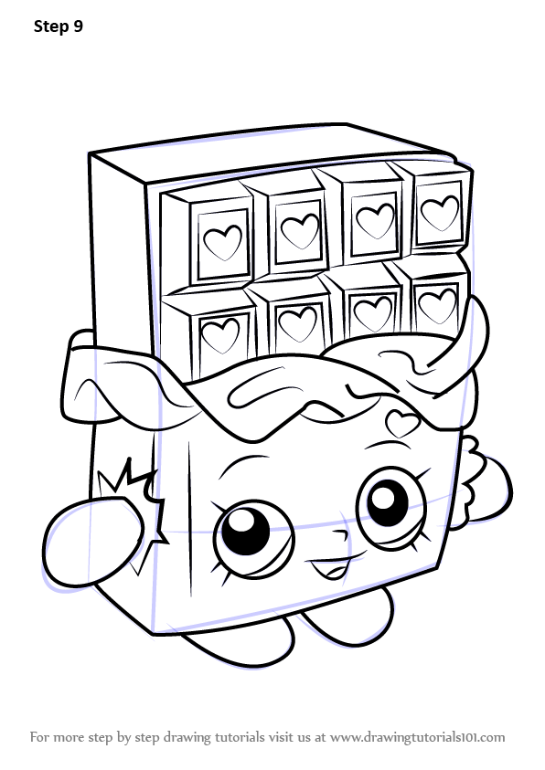 learn how to draw cheeky chocolate from shopkins shopkins step by