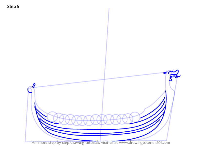 Learn How To Draw A Viking Ship Boats And Ships Step By