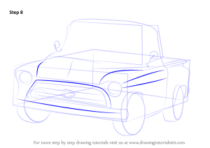 Step by Step How to Draw a 1955 Chevy Truck