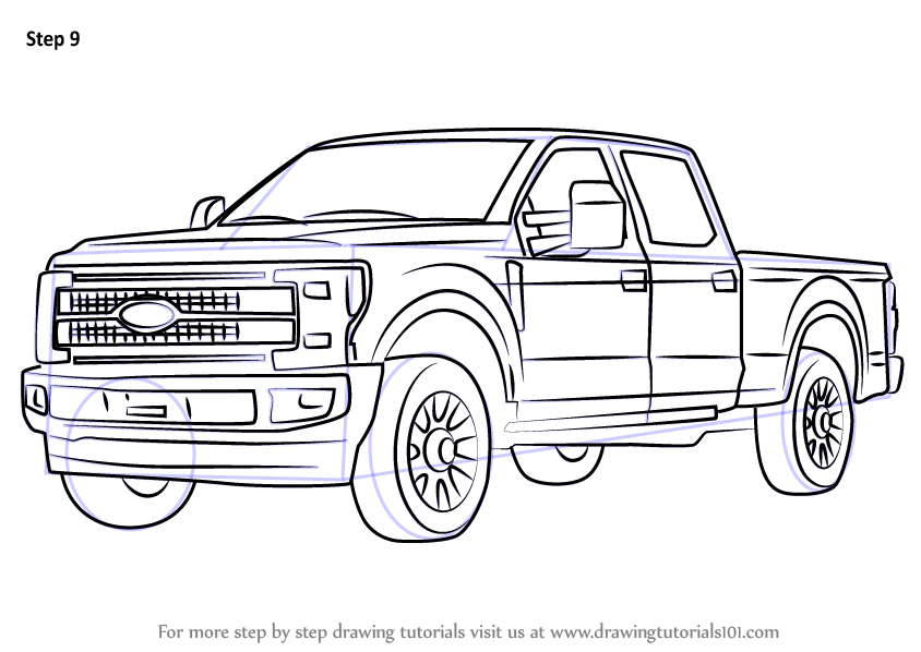 ford dually truck coloring pages
